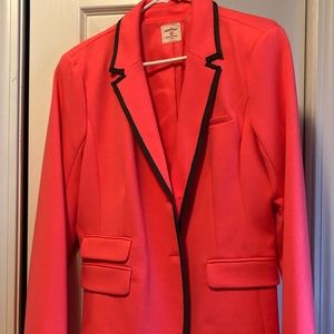 Bright pink fitted blazer TALL